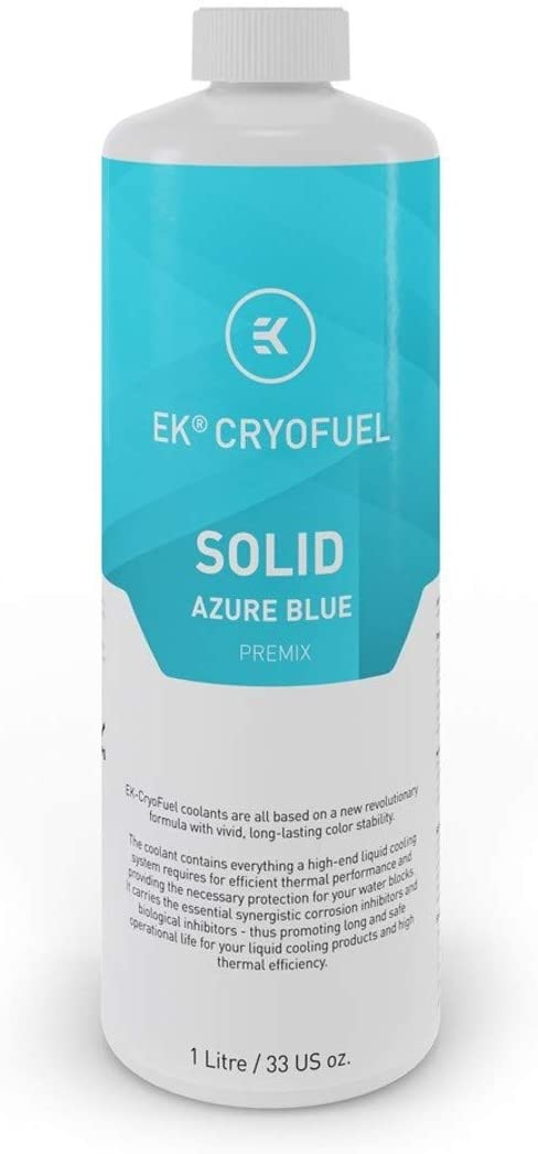 EKWB EK-CryoFuel Solid Premix Coolant, 1000mL, Azure Blue