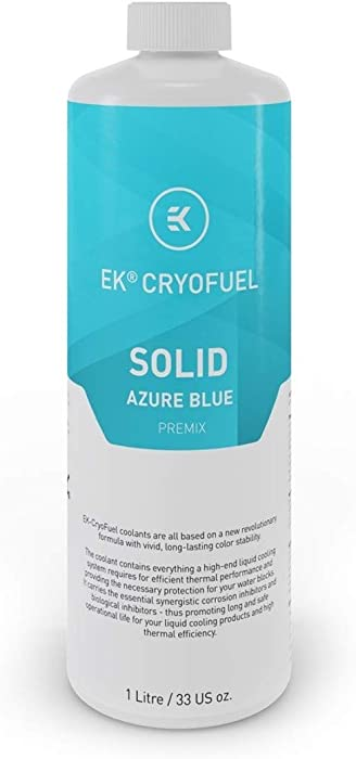 EKWB EK-CryoFuel Solid Premix Coolant, 1000mL, Azure Blue