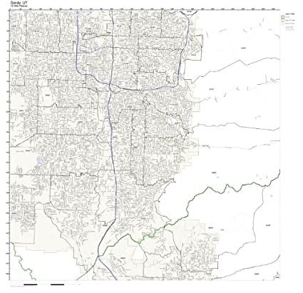 Amazon.com: Sandy, UT ZIP Code Map Laminated: Home & Kitchen on summerville sc maps, sandy city street map, sandy oregon maps, spokane wa maps, sandy utah, stockton ca maps, savannah ga maps, springfield il maps,