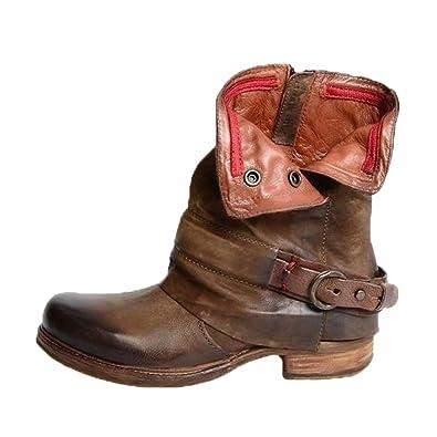 eba8f6338 Junkai Ankle Boots Femme Hiver Bottines Fermeture à Glissière ...