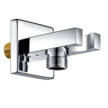 SR SUN RISE Solid Brass Square Handheld Shower Head Bracket Holder Wall  Mount,Concealed Installation