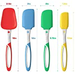 Vremi 4 Piece Spatula Set - Colorful Silicone Rubber Baking Spatulas Nonstick BPA Free Dishwasher Safe - Turner Spatula for Icing Brownie or Cake Frosting Decorating - Heat Resistant up to 450°F 8 4-PIECE SILICONE SPATULA SET -High quality colorful kitchen utensils includes a mini spatula, small spatula, medium spatula, and medium spoon spatula. Cute and practical basic tools for everyday cooking, baking, scraping, icing, turning and flipping tasks HEAT PROOF THIN FLAT HEADS - Durable spatula set is made from tough, BPA free plastic and solid silicone to withstand high temp up to 450°F (230°C). Great for working with hot cream or dough, or to flip eggs or pancake directly in your frying pans NON STICK TURNER SCRAPER FLIPPER - Designed with smooth round edge and nonstick friendly to protect all kinds of cookware. Perfect go-to gadgets for yourself or your family, and their small size is ideal for camping or any outdoor cooking activity