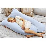 Today's Mom Cozy Comfort Pregnancy Pillow, Sky Blue