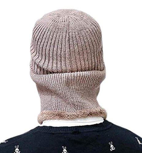 5e9f5561c1d Lanzom Winter Warm Knitted Balaclava Beanie Hat Windproof Ski Face Mask Hats