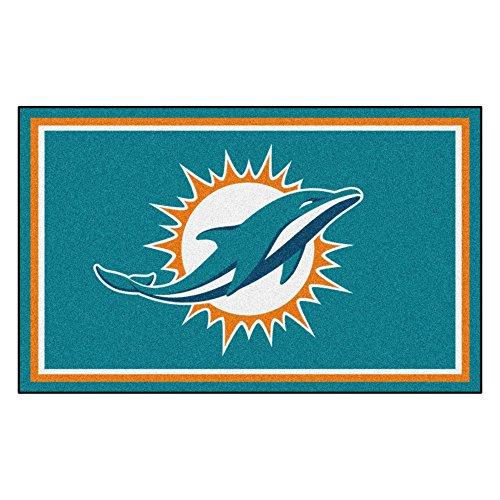 (FANMATS NFL Miami Dolphins Nylon Face 4X6 Plush)
