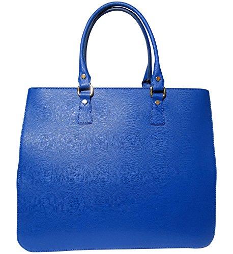 JOSYBAG Ledertasche MAILAND Arbeitstasche Shopper Tasche Royalblau/ Royal
