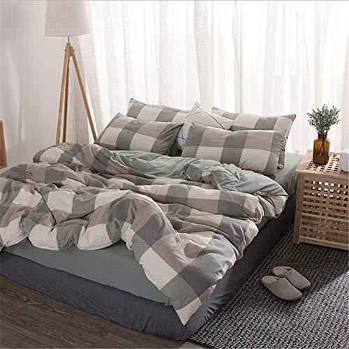 SSHHJ Comforter Bedding Sets Duvet Cover Set King Size Home Bed Cover Pillow Case D 200x230cm