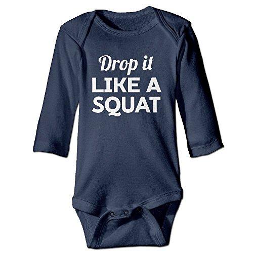 Fillmore Drop It Like Squat Long Sleeve Romper Vest For 6-24 Months Toddler 12 Months Navy
