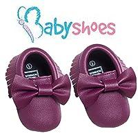 LAROK Bowknot Leather Baby Moccasins for Boy Girl Infant Toddler Pre-walker C...