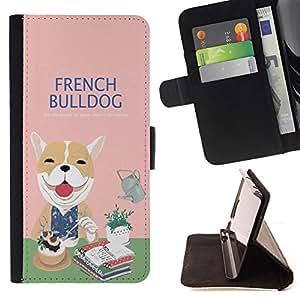 Jordan Colourful Shop - FOR Sony Xperia M2 - french bulldog - Leather Case Absorci¨®n cubierta de la caja de alto impacto