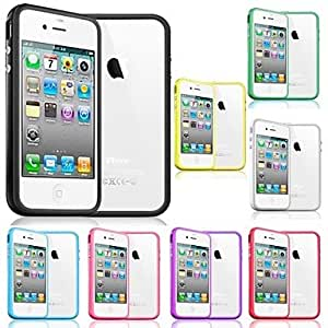 MOM TPU Solid Color Frame Bumper Case for iPhone 4/4S (Assorted Colors) , Orange
