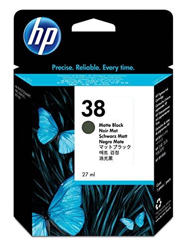 HP 38 Matte Black Pigment Original Ink Cartridge (C9412A) DISCONTINUED BY - Pigment Vivera Ink Gray