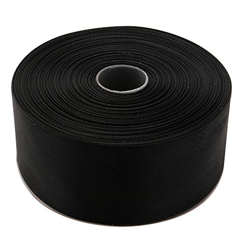 Polyester Satin Ribbon - Topenca Supplies 2 Inches x 50 Yards Double Face Solid Satin Ribbon Roll, Black