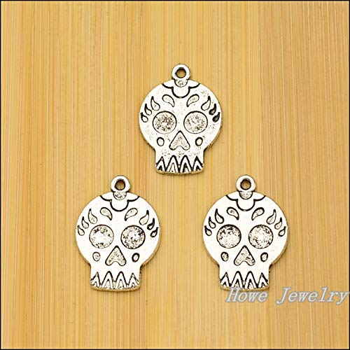Vintage Charms Skull Pendants | Antique Silver Fit Bracelets, Necklaces | DIY Metal Jewelry Making (65 Pcs)
