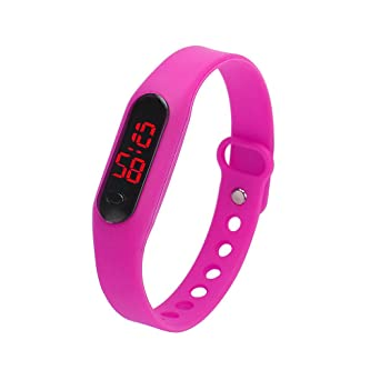 KaloryWee Montre Connectée Femme Montre Pas Cher Bracelet Silicone Homme LED Digital Running Fashion La Mode