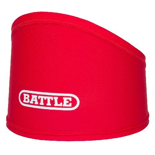 Battle Skull Wrap - Under Helmet Sweat Control Headband - Moisture Wicking Headband - High Performance Accessories for Football and High Intensity Sports, 8 Years and Up, Red