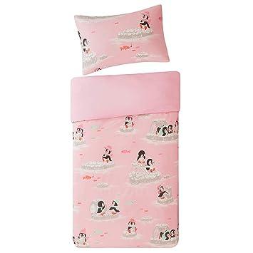 Scm Baby Bettwäsche 100x135cm Rosa 100 Baumwolle 2 Teilig