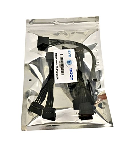 (2 pack) 4 Pin IDE Molex to 4 x 15 Pin SATA Power Y-Cable Adapter Splitter by Eyeboot (Image #5)'