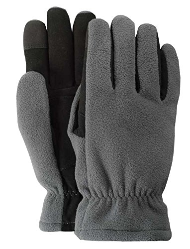 Illinois Glove Company 87WMB 3M Thinsulate Lined Fleece and Suede Deerskin Winter Glove, Slip-on Style, Women's Medium, Gray and Black by Illinois Glove Company