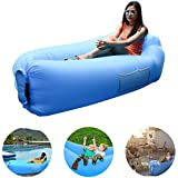 VEEAPE Inflatable Lounger Air Sofa, Fast Inflate Portable Hammock Water Resistant with Carrying Bag for Outdoor Recreation Hiking Camping Beach Hangout Music Beer Pool Parties