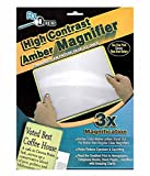(2 Pack) ChefLand Full Page 3x Magnifier / Plastic Magnifying Sheet Fresnel Lens, 81/2 Inch x 11Inch