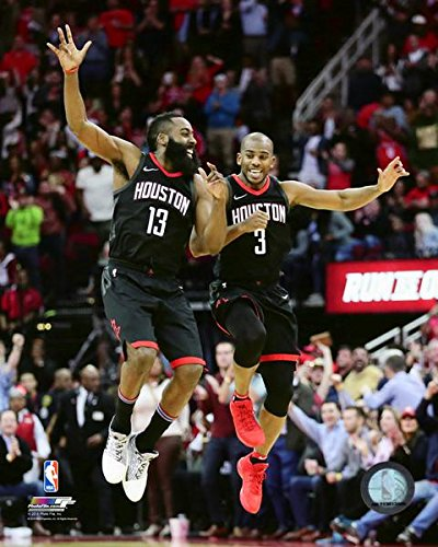1b18100a8148 Amazon.com  James Harden   Chris Paul Houston Rockets 2017-2018 NBA Action  Photo (Size  8