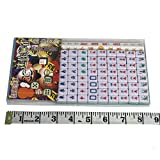 Vanki Mini 144 Mahjong Tile Set Travel Board Game Chinese Traditional Mahjong Games, Portable Size and Light-weight