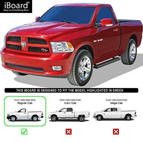 "APS IB-D4178B Matte Black 4"" IBoard For Dodge Ram 1500"