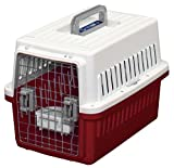IRIS Dog Air Travel Carrier Crate, Red, Small