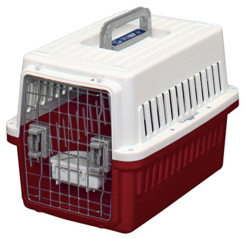 IRIS Dog Air Travel Carrier Crate, Red, Small by IRIS OHYAMA, Inc.