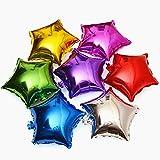 "50pcs/lot Star Shape Foil Mylar Helium Ballon 18"" Balloon Birthday Party Decoration Foil Balloons"