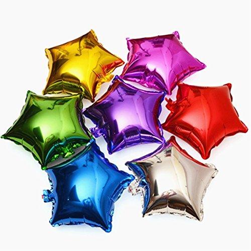 50pcs/lot Star Shape Foil Mylar Helium Ballon 18