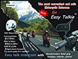YUENY MOTO R4 Easy Talkie BT Interphone Bluetooth Intercom Bluetooth Motorbike Motorcycle Helmet Communication Intercom Headset System with Remote Control