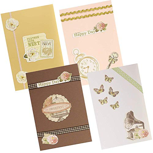 PICKME DIY Greeting Cards Making Kit - Create Your Personalized Handmade Greeting Cards Assortment of Art Characters with Envelopes for Kids & Adults, Excellent Gift Birthday Card & Thank You Card