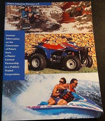 1994 POLARIS INDUSTRIES SNOWMOBILE WATERCRAFT INVESTOR BROCHURE (818) (Polaris Industries Snowmobiles)