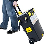 Heavy Duty Rolling Toolbox with Foldable Comfort