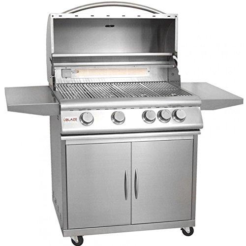 Blaze 32 Inch 4 Burner Freestanding Propane Gas Grill With