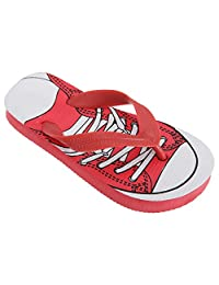Floso Childrens Boys Lace Up Trainer Design Toe Post Flip Flops