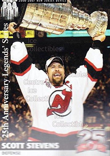 ((CI) Scott Stevens, Stanley Cup Hockey Card 2006-07 New Jersey Devils Team Issue 41 Scott Stevens, Stanley Cup)
