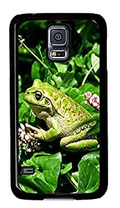 poetic Samsung S5 covers Green Frog Animal PC Black Custom Samsung Galaxy S5 Case Cover