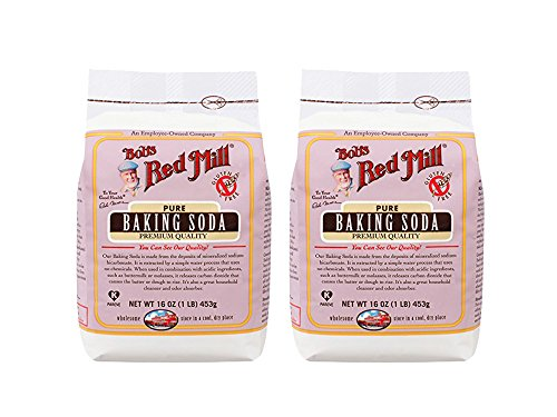 Set of 2 Bobs Red Mill Baking Soda, 16 Ounce bundled by Maven Gifts
