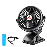 Best Battery Operated Portable Fans - Zonhood Battery Operated Clip On Fan, USB Mini Review