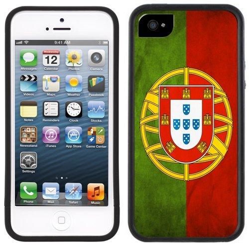 Portugal Flagge | Handgefertigt | iPhone 5 5s | Schwarze Hülle