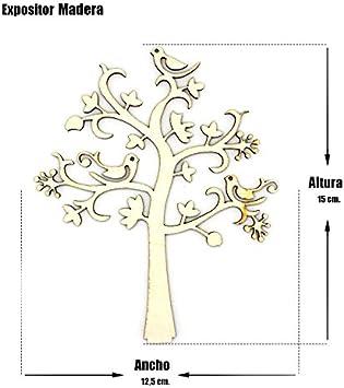 Lot 2 Arbres, Gros Pr/ésentoir Bijoux Bois de larbre de Vie Ruby Organisateur Arbre de Vie en Bois