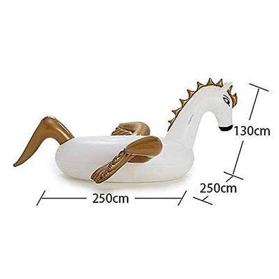 Amazon.com: Goolsky Giant Inflatable Pegasus Pool Raft Summer Swimming Lounge Float Pool Party Toys for Adults and Kids: Toys & Games