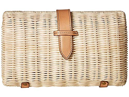 J.Crew Women's Rattan Frame Clutch Natural One Size