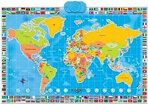 Amazon zanzoon map world interactive talking world map toys zanzoon map world interactive talking world map gumiabroncs Choice Image