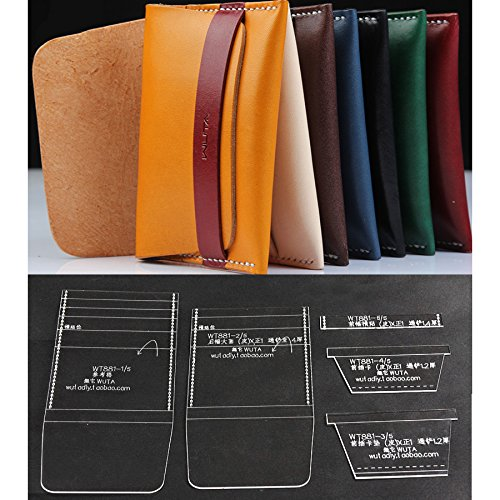 (NW Card Holder Acrylic Template Leather Pattern Acrylic Leather Pattern Leather Templates for Card Bag )