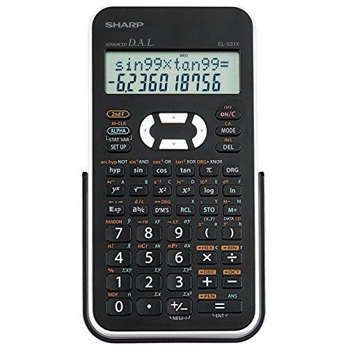 Sharp EL531XBWH Scientific Calculator with 2 Line Display (Calculator Hexadecimal)