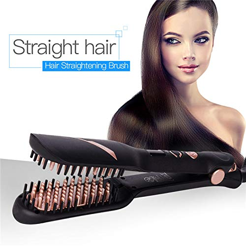 110-220V Professional Hair Straightener Flat Iron Fast Ceramic Electric Smoothing Hair Straightening Brush Comb Styling Tools